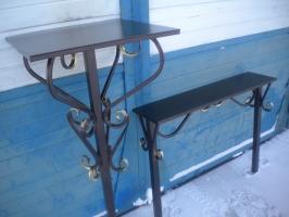 Комплект№5: стол(ковка) + лавочка(ковка)