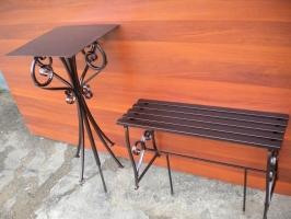 Комплект№6: стол(ажур) + лавочка(ажур)